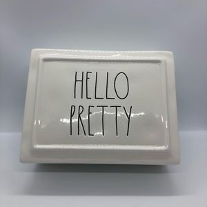Rae Dunn HELLO PRETTY Jewelry Ceramic Trinket Box
